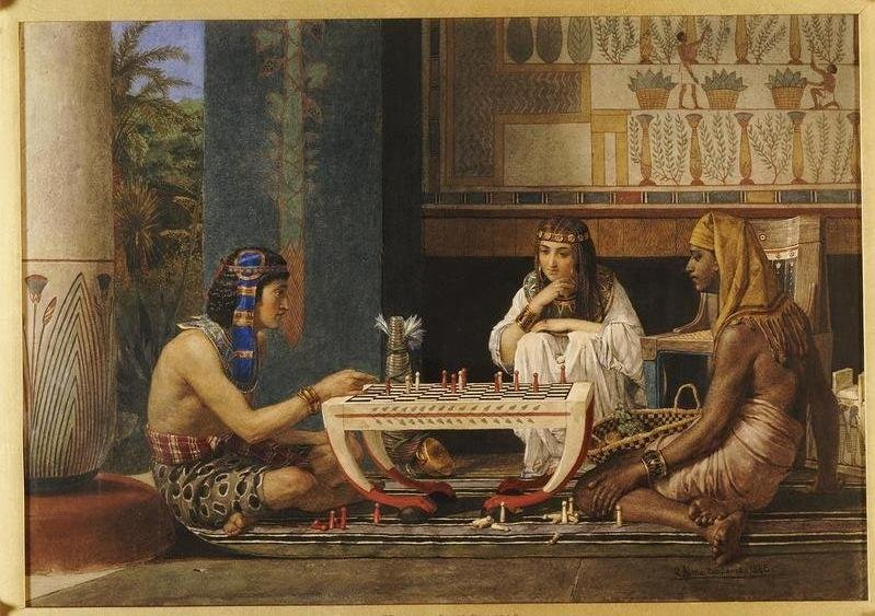"Titled ""Chess players"" from Sir Lawrence Alma-Tadema"