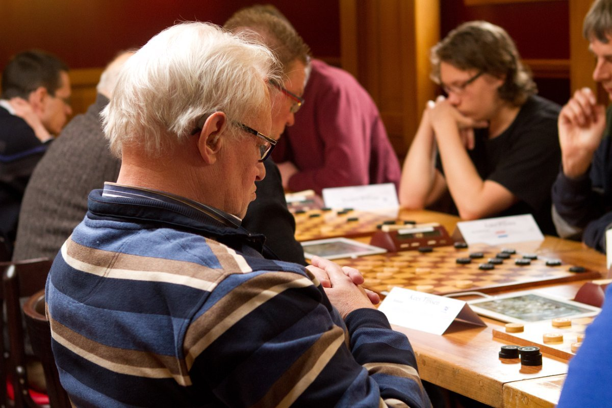 Concentration during a draughts game